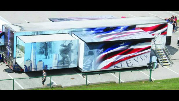 A view of the Stephen Siller Tunnel to Towers Foundation's 9/11 Never Forget Mobile Exhibit that will be at the Washington County Fair in Washington, IA, July 15-17.