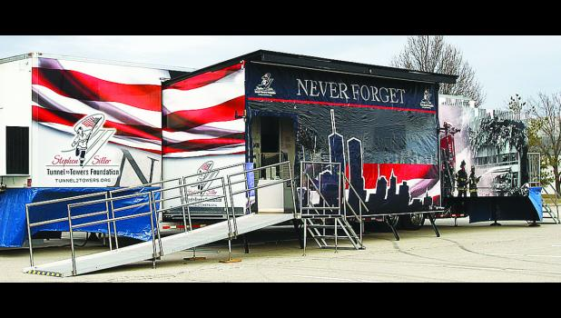 Pictured is the NEVER FORGET 9/11 exhibit that will be coming to Jesup for the 2016 Farmers Day Celebration, which will be July 7-9.