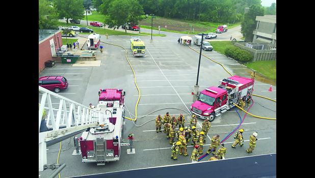 Keota Fire was paged out at 6:28 a.m. on July 4 to Keota High School for reports of smoke coming from the roof and back doors. Sigourney responded from an auto-aid agreement. While the fire was put out quickly, there was extensive smoke and water damage. The investigation found fireworks remnants on the roof of the school. Current estimates for repairs are in the hundreds of thousands of dollars.